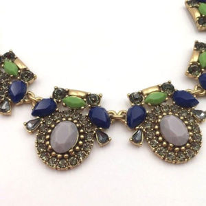 J. Crew Jewelry - NWT J Crew Blue-Green Gold Tone Bauble Necklace!